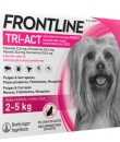 FRONTLINE TRI-ACT PERROS 2-5 KG 33.8/252.4 MG SOLUCION SPOT-ON 3 PIPETAS 0.5 ML