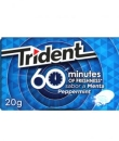 CHICLE TRIDENT MENTA 10UDS 20GR 1 PAQUETE